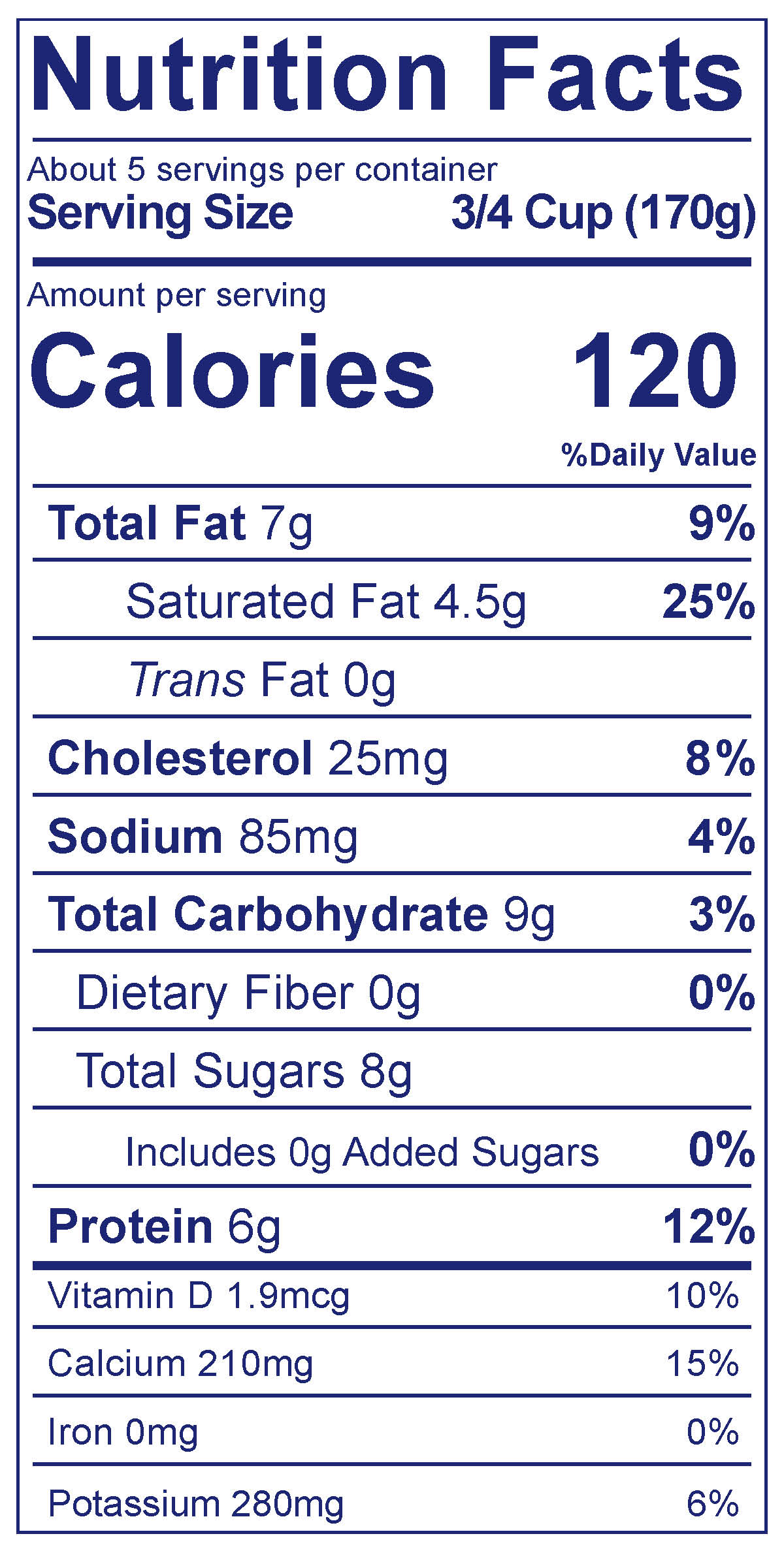 Whole Milk Smooth & Creamy Plain - Nutrition Facts