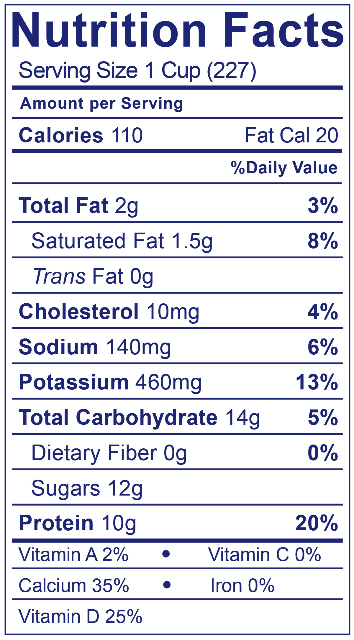 Low Fat Smooth & Creamy Plain - Nutrition Facts