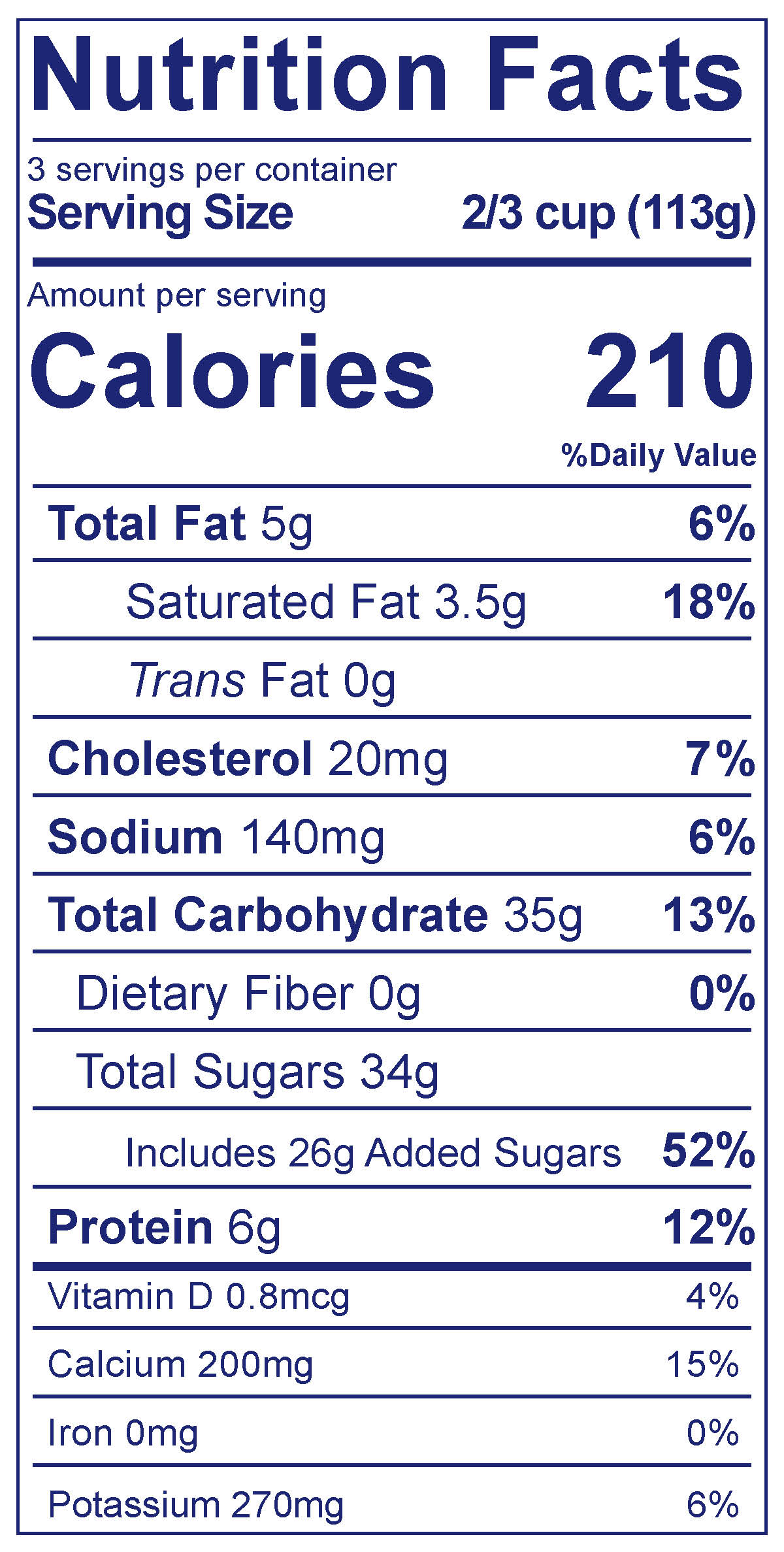 Frozen Yogurt Crème Caramel - Nutrition Facts
