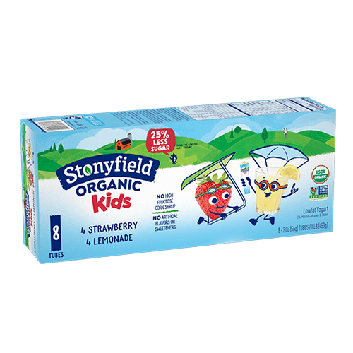 Kids Low Fat Tubes Strawberry / Lemonade