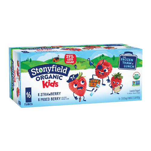 Kids Low Fat Tubes Strawberry & Mixed Berry