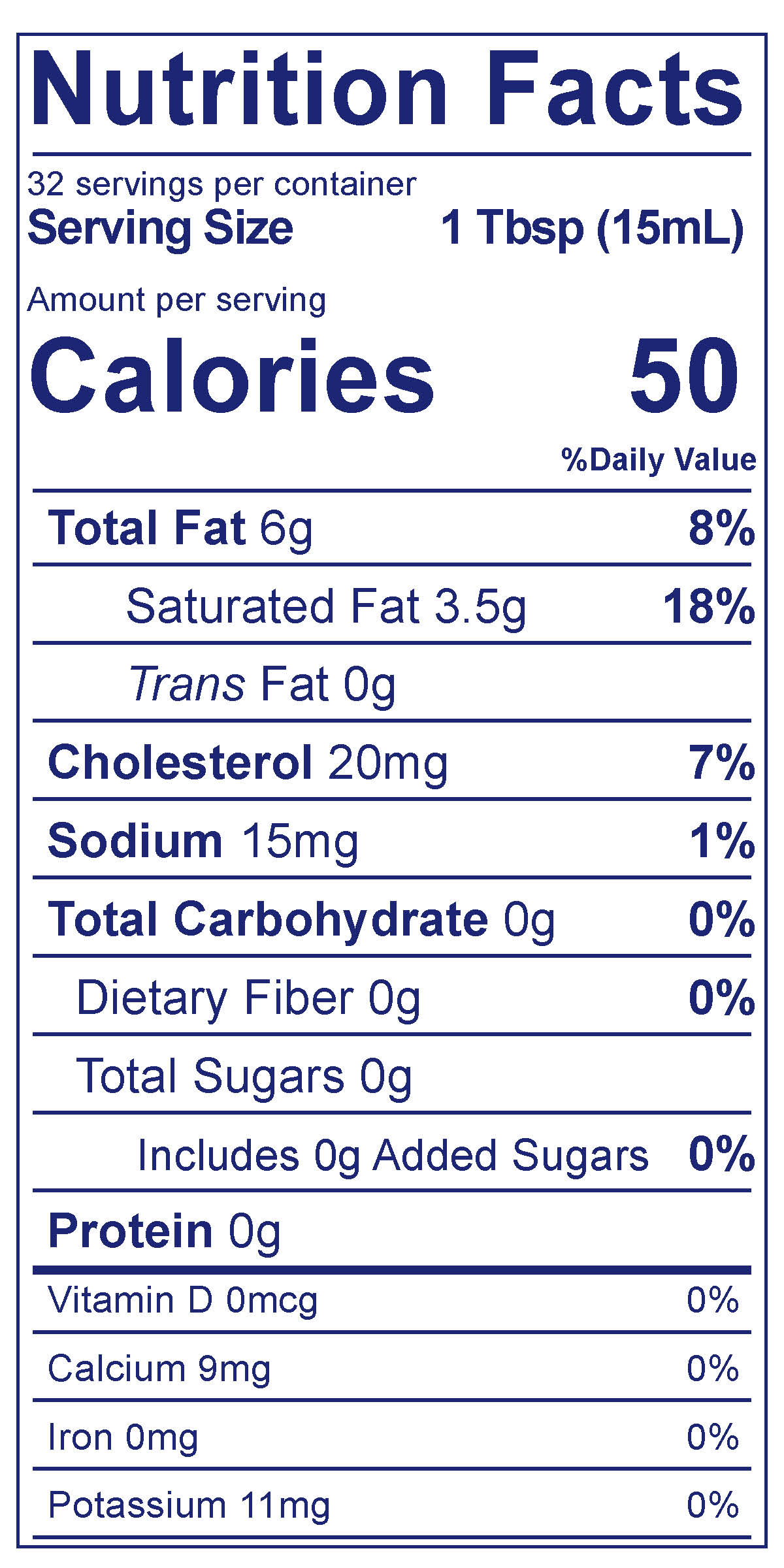 Heavy Whipping Cream - Nutrition Facts