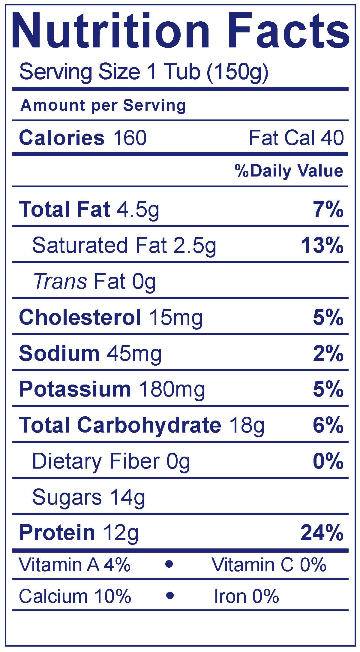 Whole Milk Greek Strawberry - Nutrition Facts