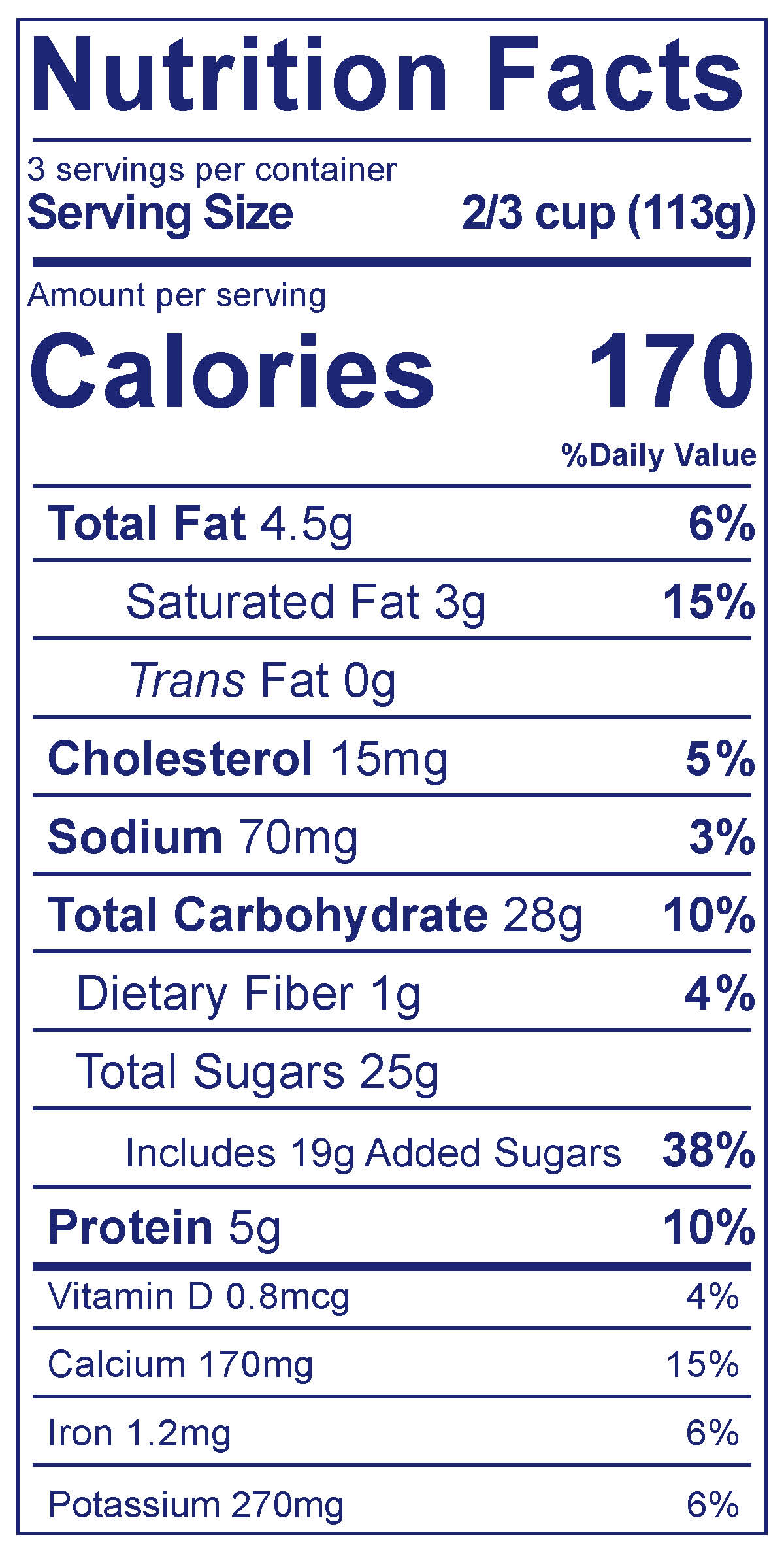 Frozen Yogurt Chocolate - Nutrition Facts
