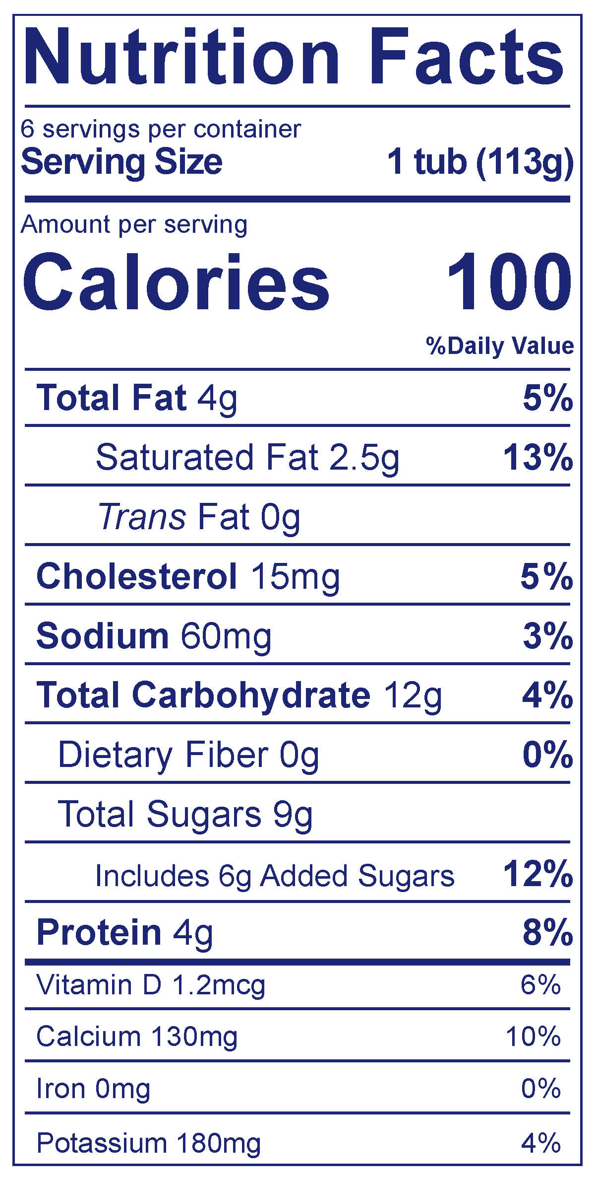 Kids Whole Milk Cups Strawberry Banana - Nutrition Facts