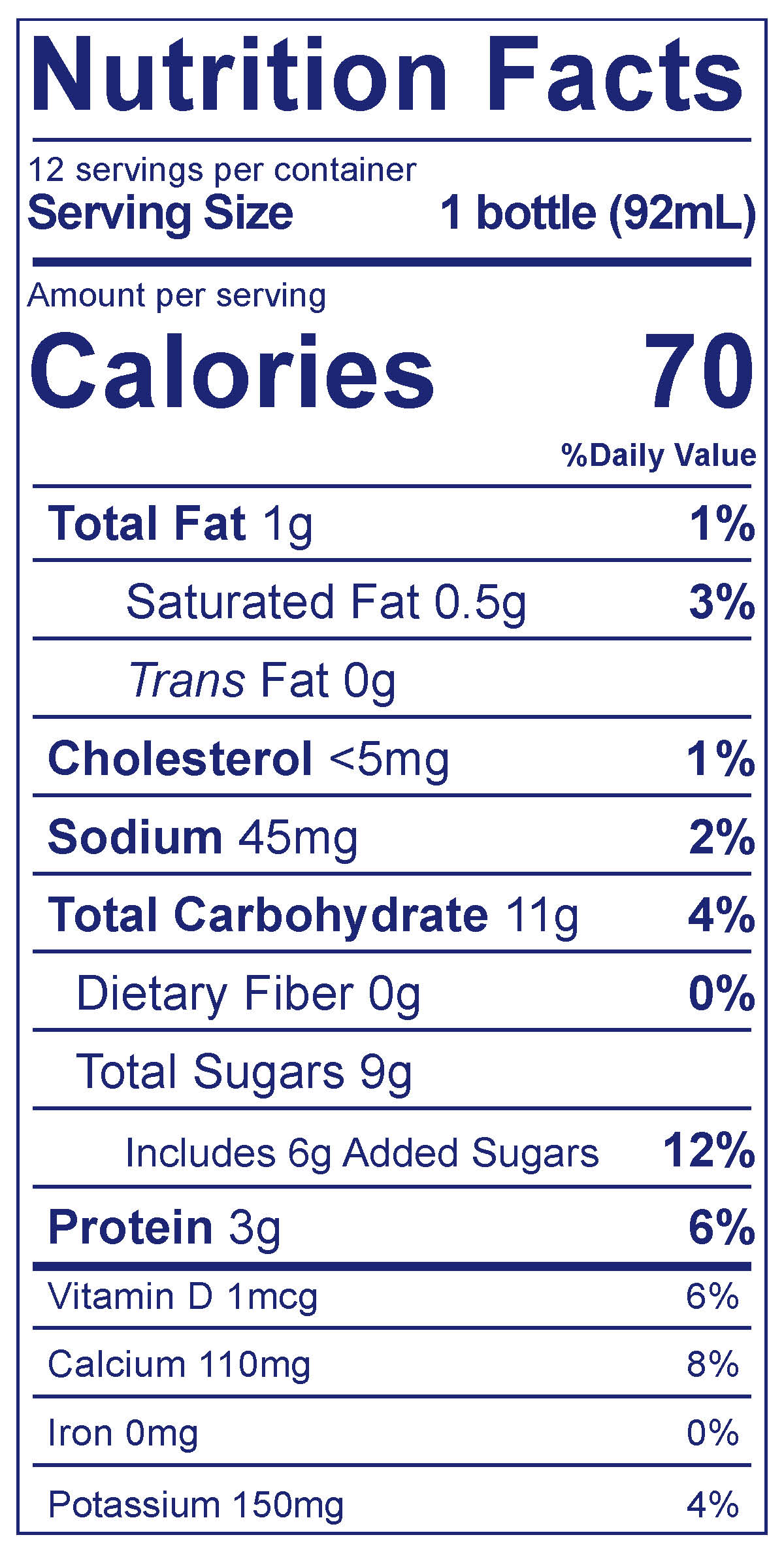 Kids Lowfat Smoothies Very Berry - Nutrition Facts