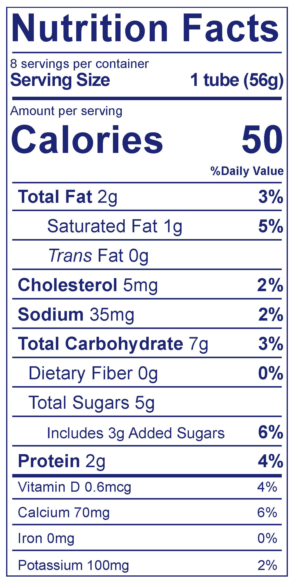 Whole Milk Tubes Strawberry Beet Berry - Nutrition Facts