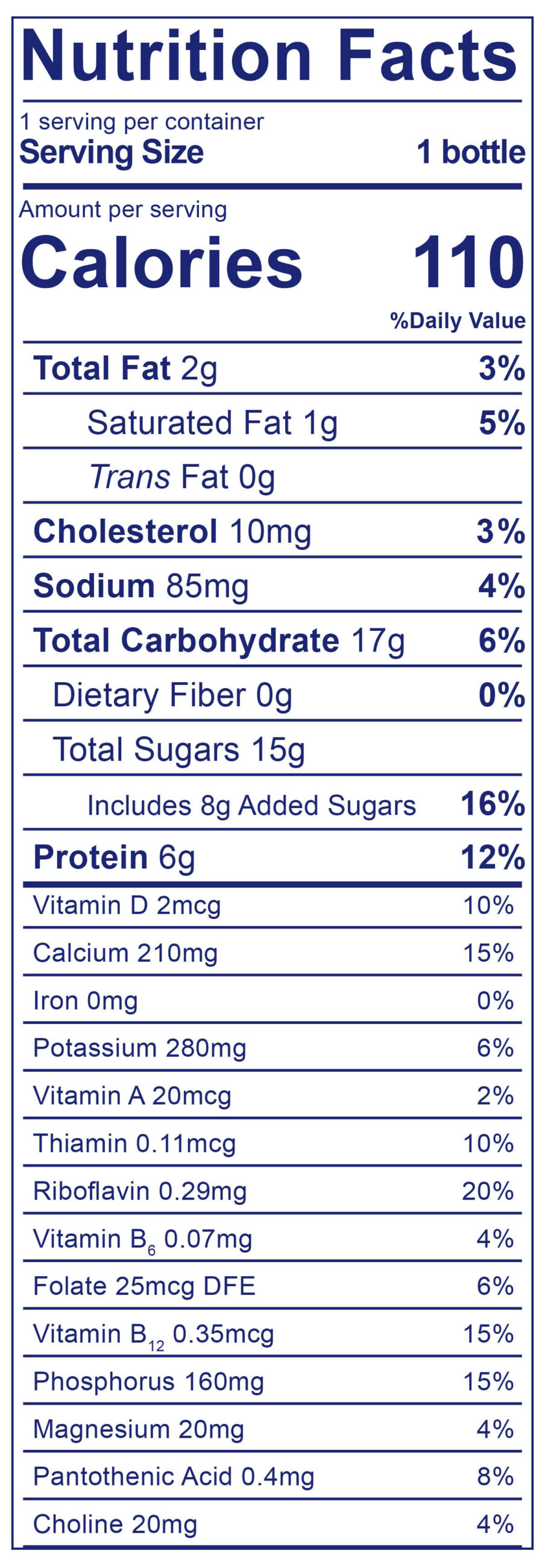 Low Fat Strawberry Smoothie - Nutrition Facts