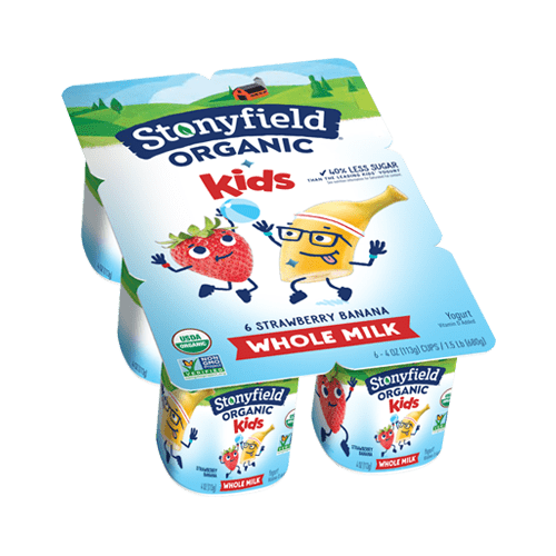 Kids Whole Milk Cups Strawberry Banana