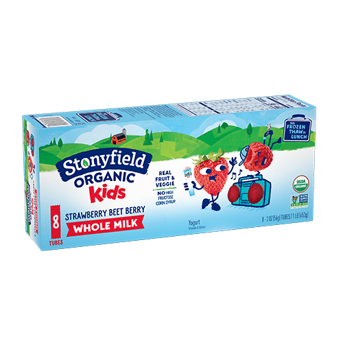 Kids Whole Milk Tubes Strawberry Beet Berry 8-pack