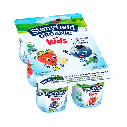 Kids Low Fat Cups Blueberry / Strawberry Vanilla