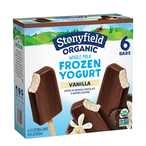 Frozen Yogurt Bars Vanilla