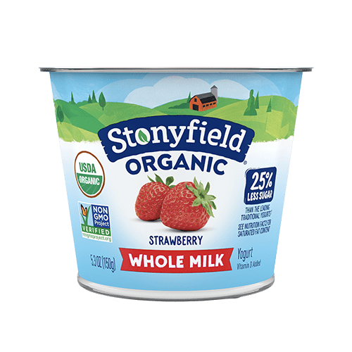 Stonyfield Organic Yogurt Whole Milk Strawberry 5.3oz