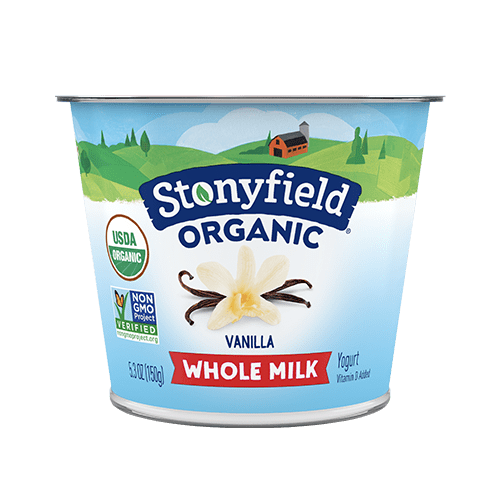 Stonyfield Organic Yogurt Whole Milk Vanilla 5.3oz