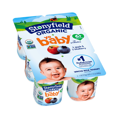 Stonyfield Organic YoBaby Blueberry Apple Yogurt