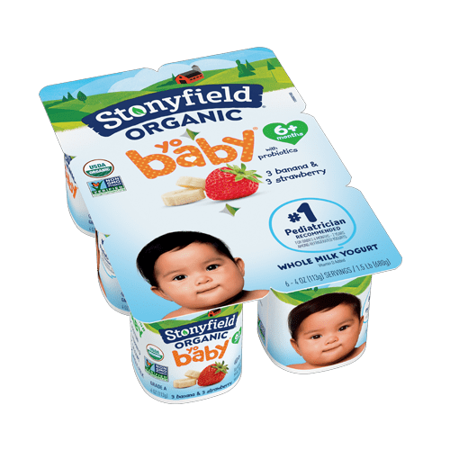 Stonyfield Organic YoBaby Strawberry Banana Yogurt