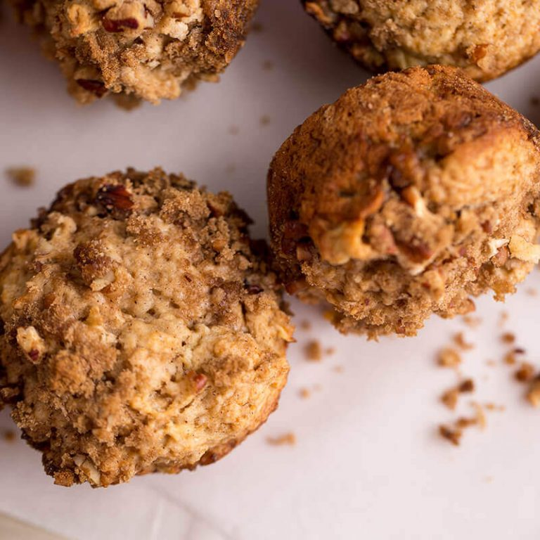 Apple pecan muffins are a delicious treat
