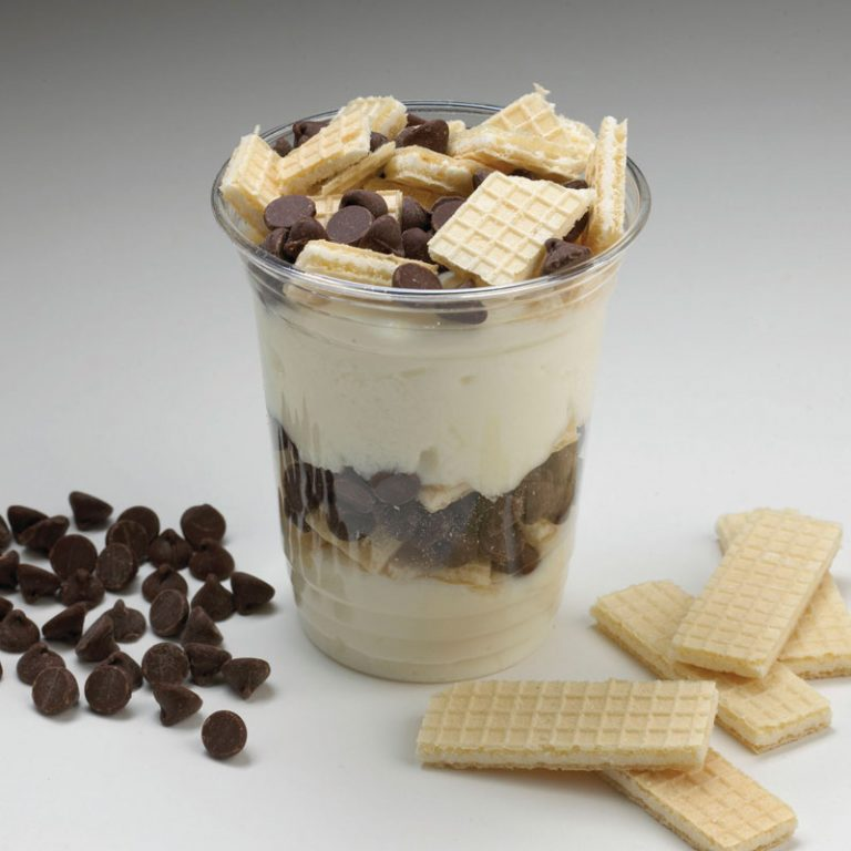 This chocolate and vanilla parfait made with our organic Vanilla Yogurt is a delicious ending to any meal.