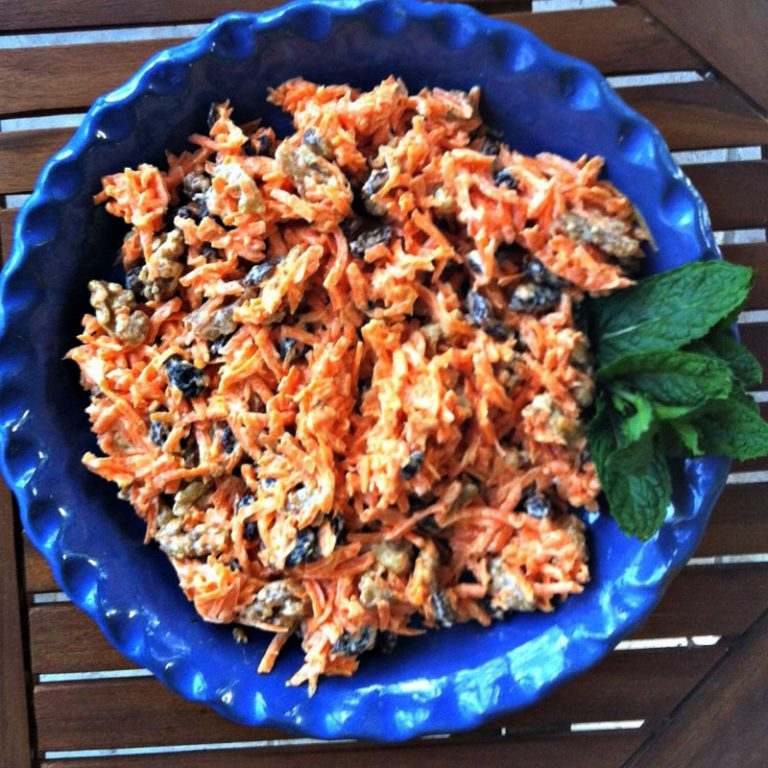 Carrot raisin salad is a four ingredient salad you can make in 10 minutes.