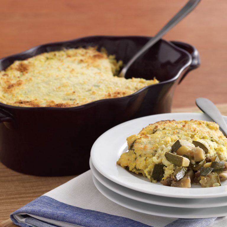 Our Chilean corn and vegetable casserole is hearty and delicious.
