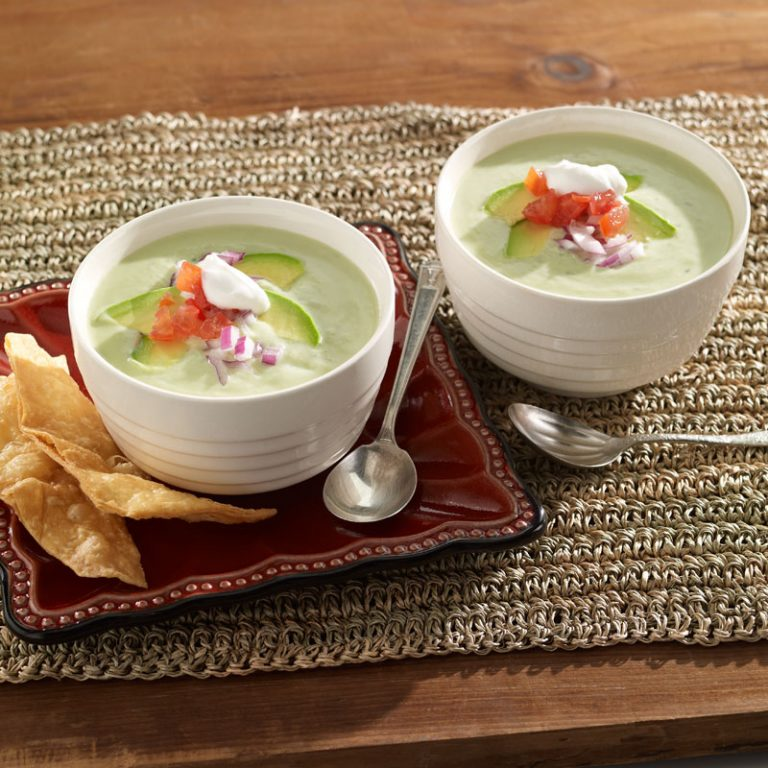 Cast away those thick, hearty soups of winter and enjoy this cool and creamy creation.