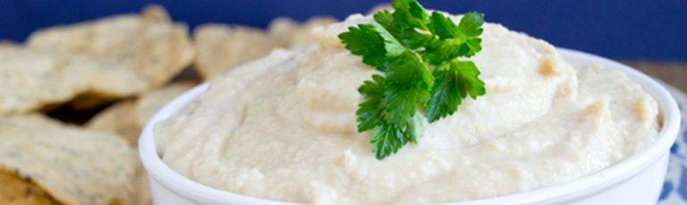 Make this creamy hummus with Greek yogurt.