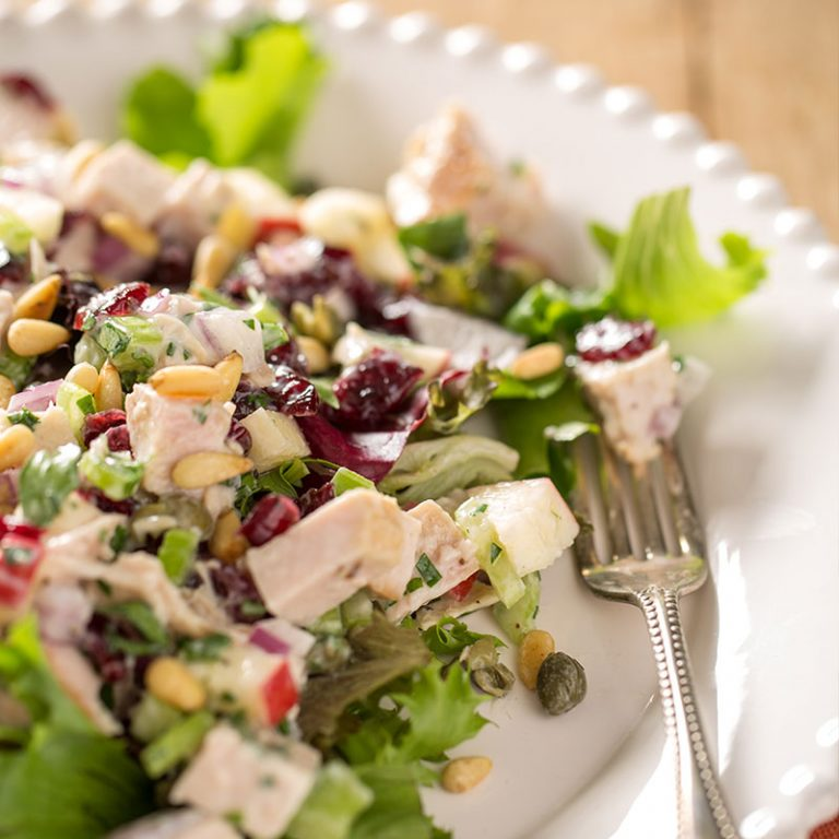 Enjoy this tasty and crunchy turkey salad that is low in fat and calories.