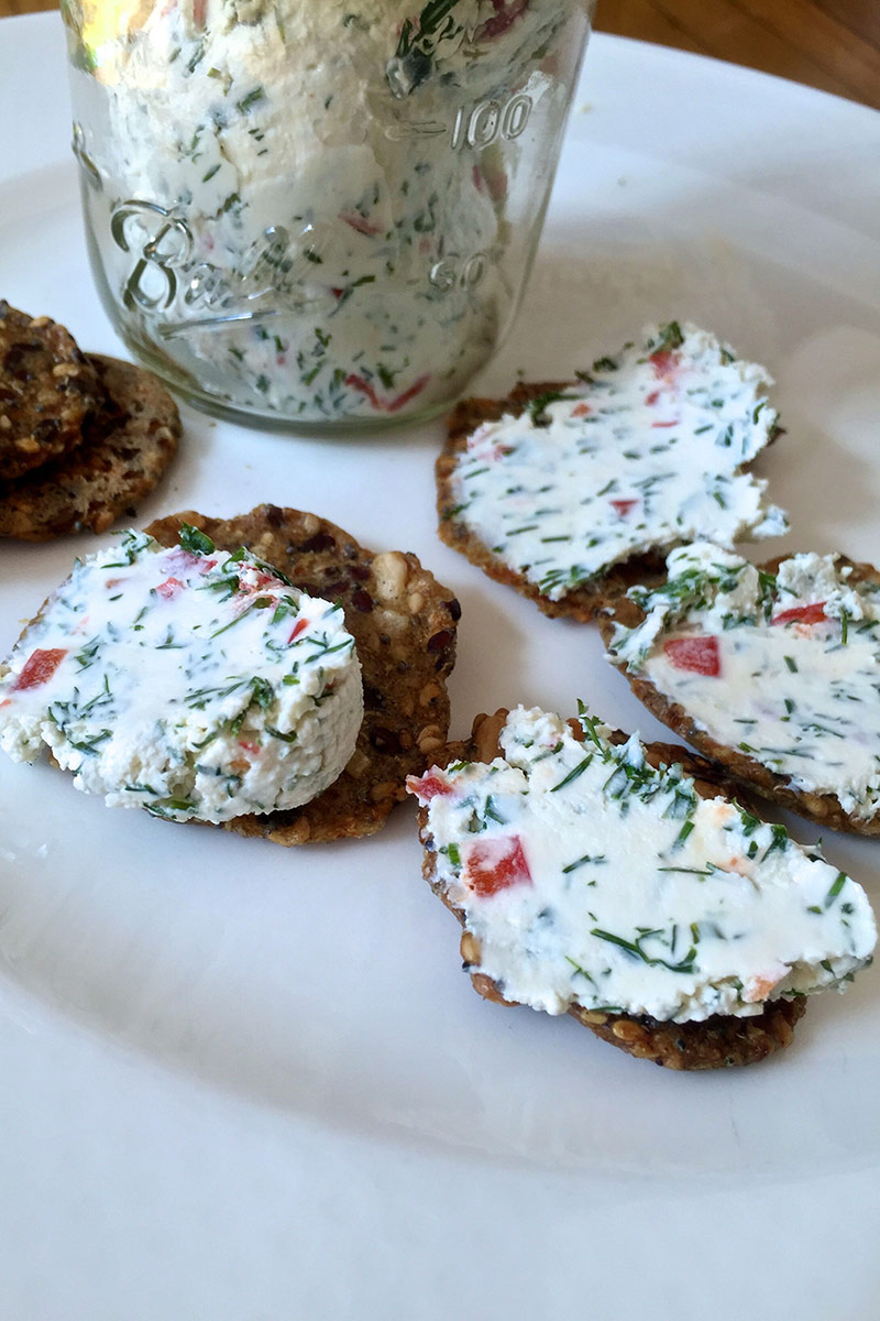 Dilled Red Pepper Yogurt Cheese Stonyfield Recipes