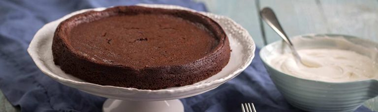 Try this rich, moist twist on a flourless chocolate torte.