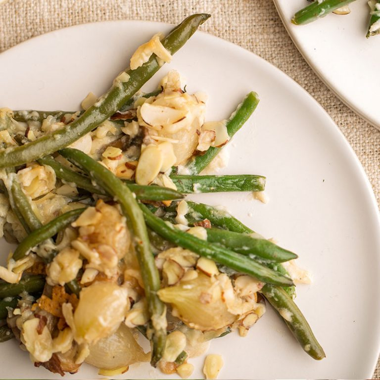 Try this green bean casserole made from scratch.