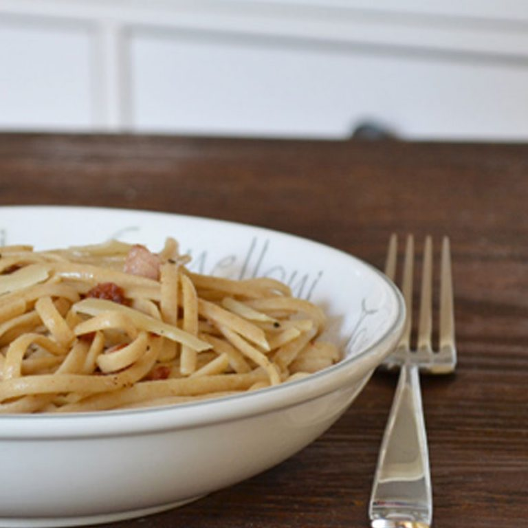 Lighten up your pasta carbonara with some plain lowfat yogurt.