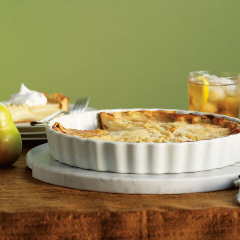 Pear Clafouti is perfect with your morning coffee.