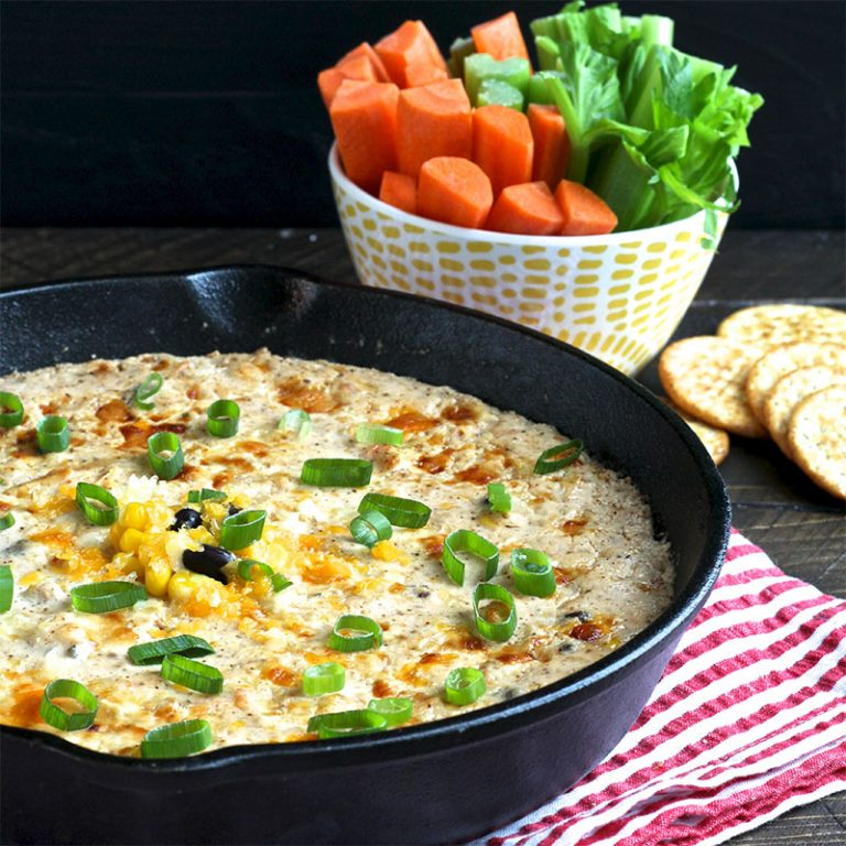 Southwest chicken dip is great for entertaining a crowd.