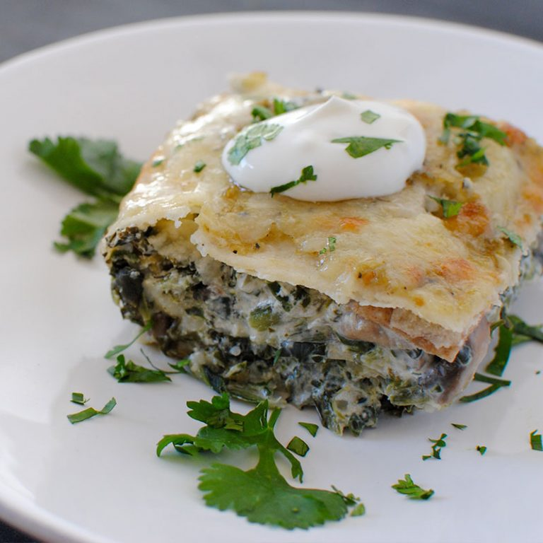 Spinach and mushroom enchiladas will be a hit with your whole family.
