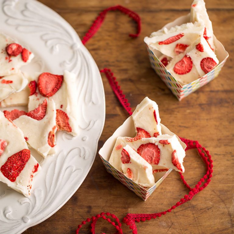 Frozen yogurt bark is a quick and easy snack that kids love.
