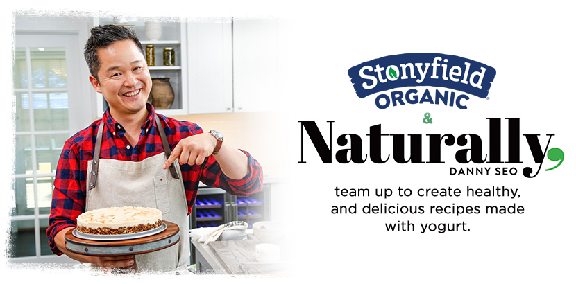 Stonyfield Organic & Naturally Danny Seo team up to create healthy, and delicious recipes made with yogurt.