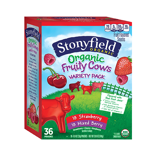 Organic Fruity Cows Strawberry / Mixed Berry