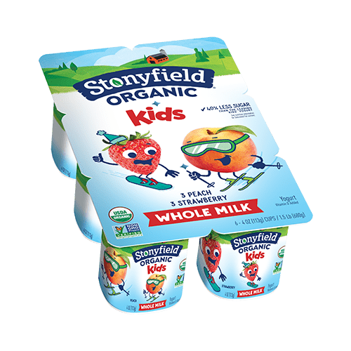 Kids Whole Milk Cups Peach / Strawberry