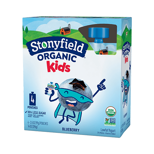 Kids Low Fat Pouches Blueberry