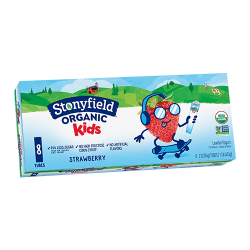 Kids Low Fat Tubes Strawberry