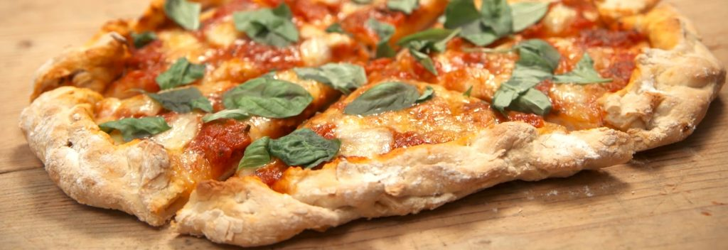Try our two-ingredient pizza dough recipe from Danny Seo!