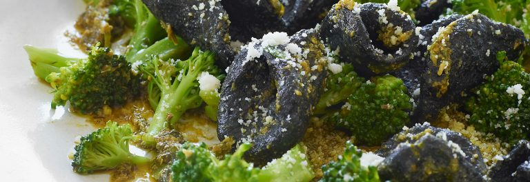 Quick Charcoal Yogurt Pasta Dough with Fridge Herb Pesto Recipe by Danny Seo & Stonyfield