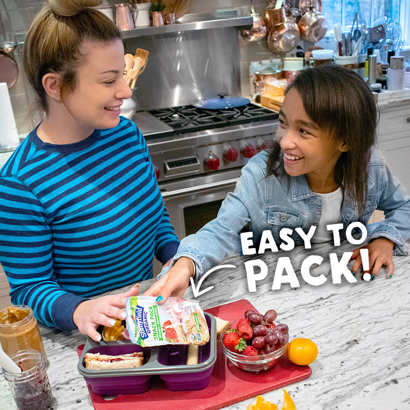 Stonyfield Organic Kids Snack Packs are easy to pack!
