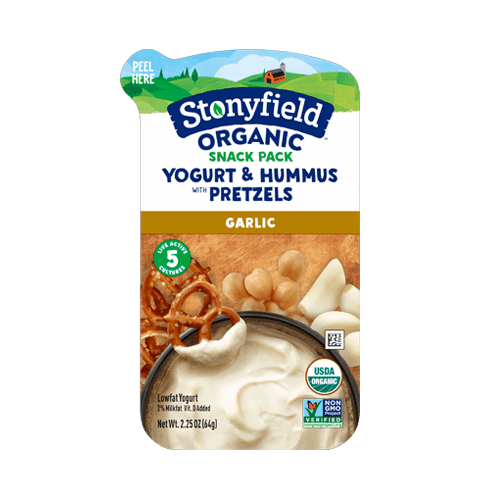 Garlic Yogurt Hummus & Pretzel Snack Pack