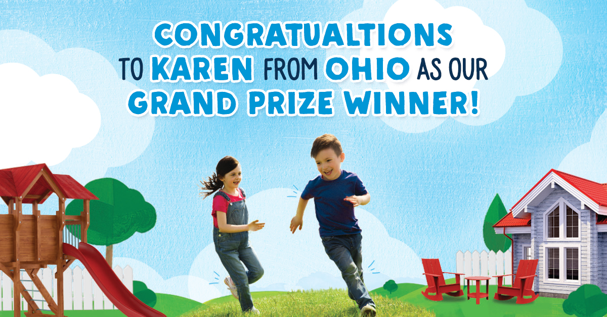 Grand prize winner of Stonyfield Organic Backyard Makeover Sweeps