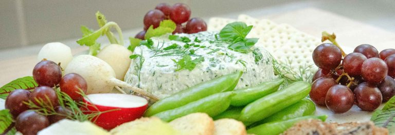 Our herbed yogurt cheese spread is perfect with fresh veggies.