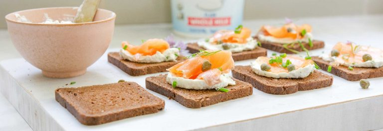 These canapes with smoked salmon will be a hit at your next big party.