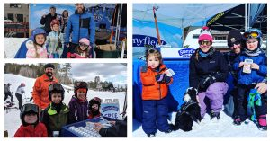 Skiers at the Vertical Challenge