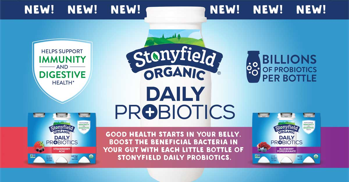 Stonyfield Organic Yogurt Introduces The First Organic Daily Probiotic Yogurt Drink On The Market