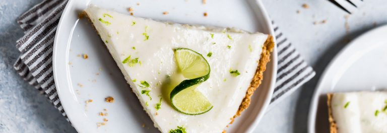 This pie is a cross between a key lime pie and a key lime cheesecake, made lighter.